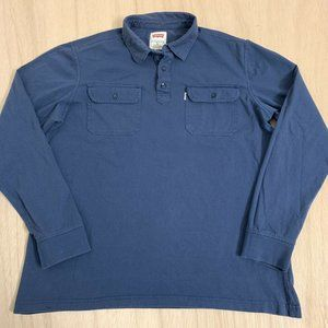 Levis Polo Long Sleeve T-shirt Tee Top Mens Size M